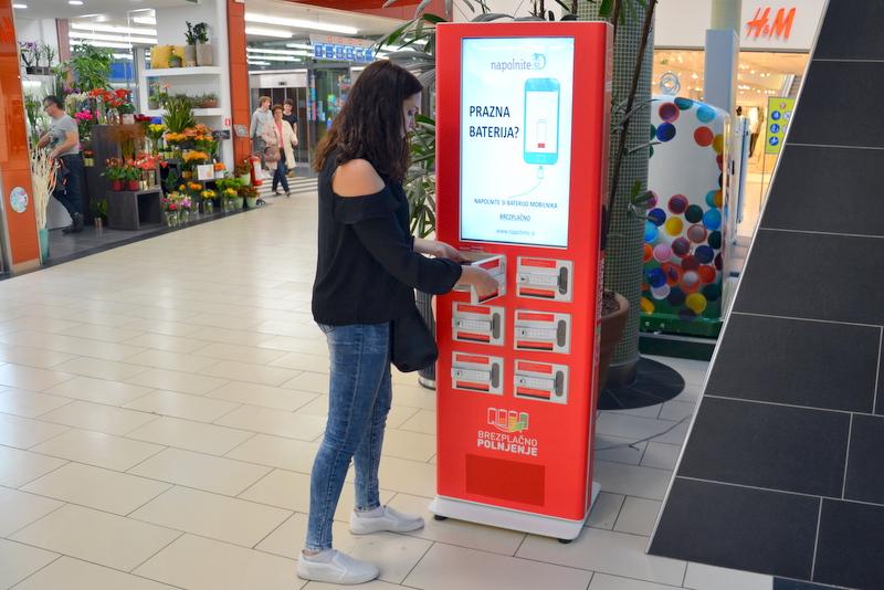 Die Handy Ladestationen für Einkaufszentren